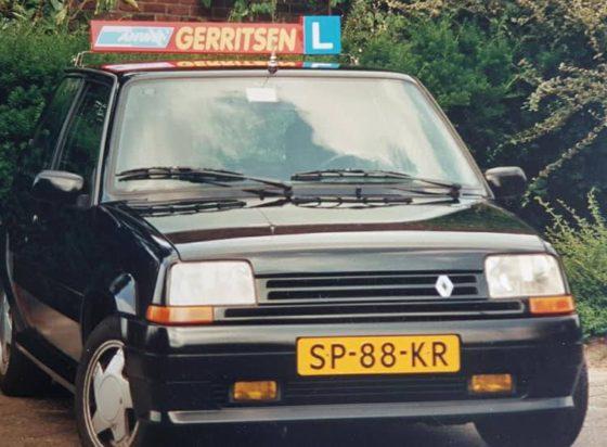 Rijles 1987 in een Renault Turbo - rijschool Steef Gerritsen